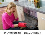 failed cooking in kitchen   Shutterstock . vector #1012095814