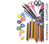 collection of school supplies ...   Shutterstock . vector #1012099123