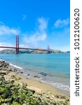 golden gate bridge in san... | Shutterstock . vector #1012100620
