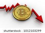 3d illustration of bitcoin over ... | Shutterstock . vector #1012103299