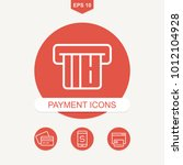 payment methods and pay online... | Shutterstock .eps vector #1012104928