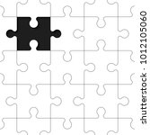 a lot of piece flat puzzle... | Shutterstock .eps vector #1012105060