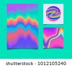 chameleon palette  shimmering... | Shutterstock .eps vector #1012105240