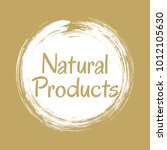natural products icon  package... | Shutterstock .eps vector #1012105630