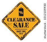 clearance sale banner | Shutterstock .eps vector #1012105930