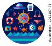 vector nautical geometric flat...   Shutterstock .eps vector #1012107478