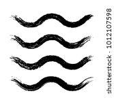 grunge waves brush strokes. set ... | Shutterstock .eps vector #1012107598