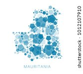 map of mauritania filled with...   Shutterstock .eps vector #1012107910