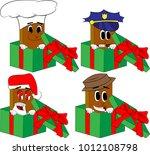 books in a gift box. cartoon... | Shutterstock .eps vector #1012108798