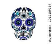 calavera doodle icon | Shutterstock .eps vector #1012109389