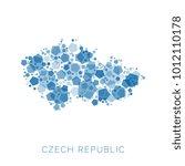 map of czech republic filled... | Shutterstock .eps vector #1012110178