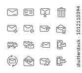 mail line icon. editable stroke.... | Shutterstock .eps vector #1012110394