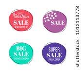 vector set of sale banners. | Shutterstock .eps vector #1012113778