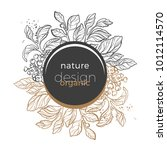 floral template with gold and... | Shutterstock .eps vector #1012114570