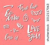 valentines day romantic... | Shutterstock .eps vector #1012117063