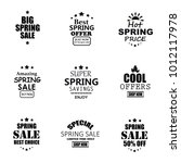 spring sale banners. | Shutterstock . vector #1012117978