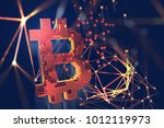 bitcoin 3d illustration.... | Shutterstock . vector #1012119973