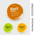 colorful label paper circle... | Shutterstock .eps vector #101212060