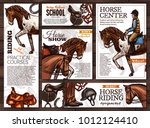 collection of vector hand drawn ... | Shutterstock .eps vector #1012124410
