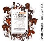 vector background for horse... | Shutterstock .eps vector #1012124416