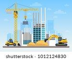 construction site building a... | Shutterstock .eps vector #1012124830