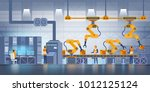 smart factory. industry 4.0 and ... | Shutterstock .eps vector #1012125124