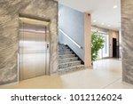 interior of a hotel lobby...   Shutterstock . vector #1012126024