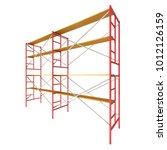 scaffolding metal construction... | Shutterstock . vector #1012126159