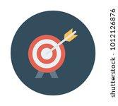 target aim success  | Shutterstock .eps vector #1012126876