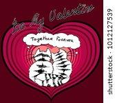happy valentines day. black... | Shutterstock .eps vector #1012127539