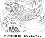 abstract halftone wave dotted... | Shutterstock .eps vector #1012127980