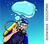 vector illustration of diver... | Shutterstock .eps vector #1012129360
