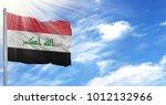 flag of iraq on flagpole... | Shutterstock . vector #1012132966