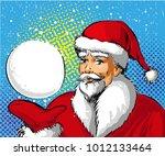 vector illustration of santa... | Shutterstock .eps vector #1012133464
