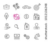 icons thin line icon dollar... | Shutterstock .eps vector #1012136248