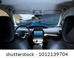 cockpit of driverless car...   Shutterstock . vector #1012139704