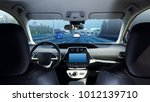 cockpit of driverless car... | Shutterstock . vector #1012139710