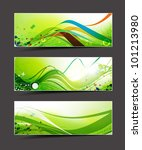 set of abstract header vector... | Shutterstock .eps vector #101213980