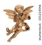 Figurine Angel Golden Color On...