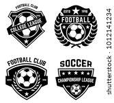 set of soccer  football emblems.... | Shutterstock .eps vector #1012141234