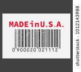 vector realistic barcode  made... | Shutterstock .eps vector #1012143988