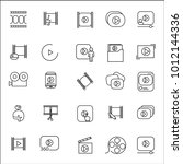 video icon thin line set... | Shutterstock .eps vector #1012144336