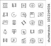 video icon thin line set...
