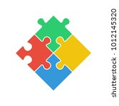 puzzle   vector icon. set of... | Shutterstock .eps vector #1012145320
