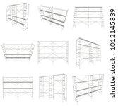 scaffolding metal construction... | Shutterstock . vector #1012145839