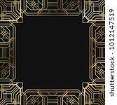 vintage retro style invitation  ... | Shutterstock .eps vector #1012147519