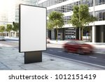 advertising poster on street 3d ... | Shutterstock . vector #1012151419
