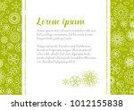 minimalist floral love letter... | Shutterstock .eps vector #1012155838