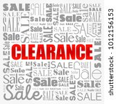 clearance sale words cloud ... | Shutterstock .eps vector #1012156153