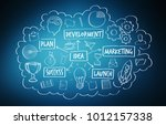 hand drawn  project...   Shutterstock . vector #1012157338